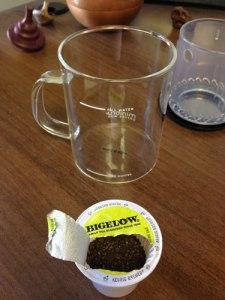 Kuerig green tea hack with a MiniBru